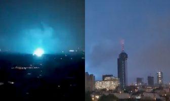 luces en el cielo sismo 7.1 CDMX