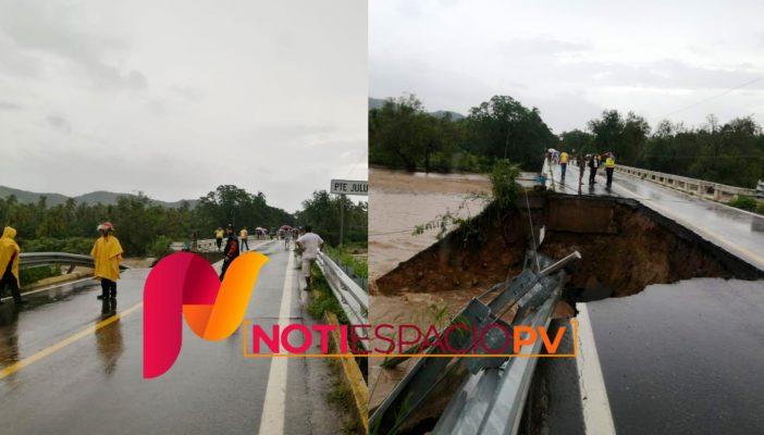 Rick provoca desbordamiento de río en Guerrero (VIDEOS)