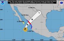 'Pamela' se intensifica a huracán y sigue su curso hacia Sinaloa